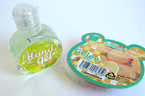 hand gel and gelee mask